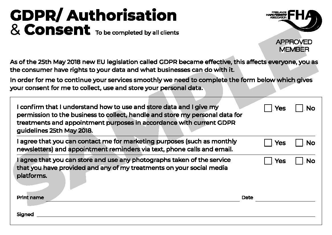 GDPR / Authorisation & Consent Form