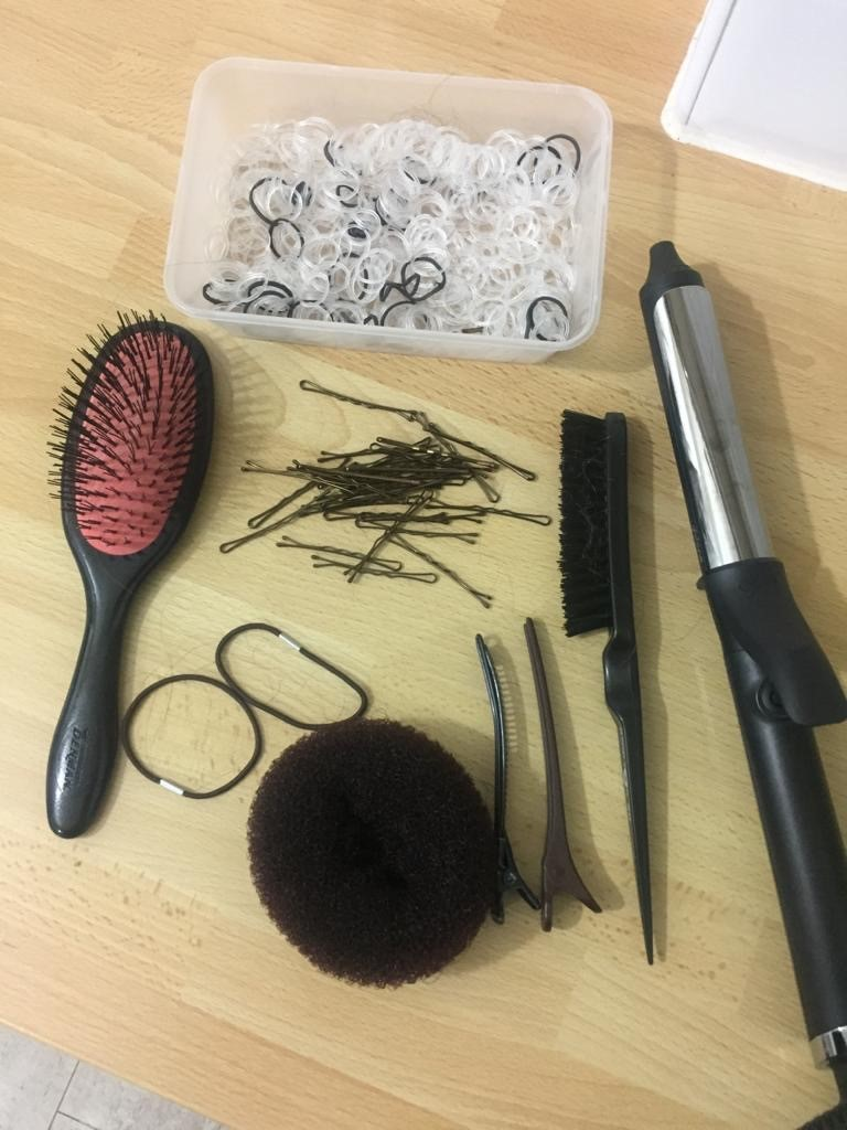 Collection of hair dressing equipment